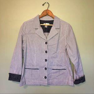 EUC   Polkadot Stripes Trendy Blazer Jacket